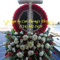 Cat Tuong Flowers Orange County Santa Ana Funeral Arrangement Cross
