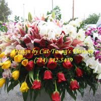 Cat Tuong Flowers Orange County Santa Ana Funeral Casket