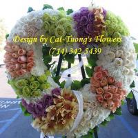 Cat Tuong Flowers Orange County Santa Ana Funeral Arrangement Heart